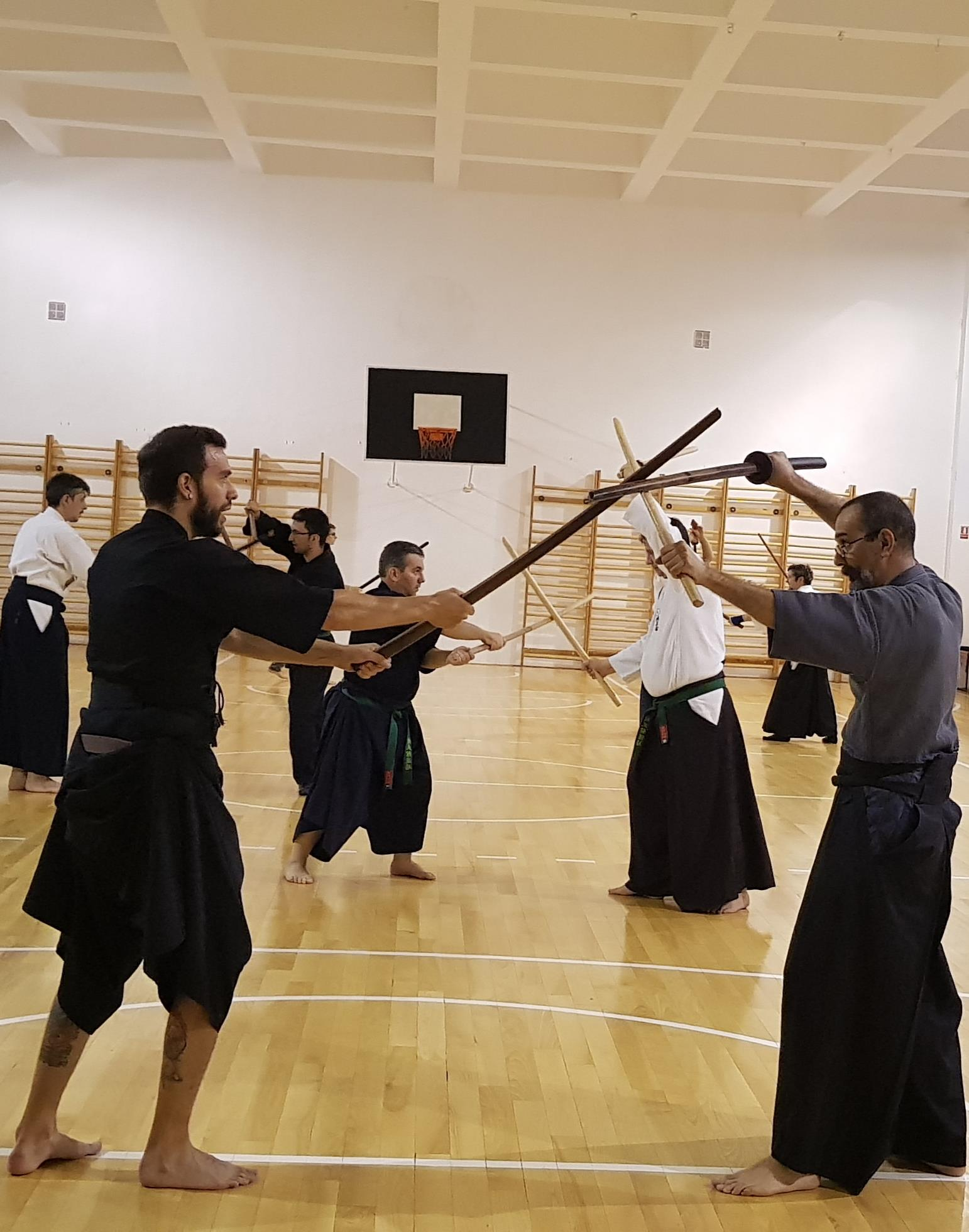 Niten Ichi Ryu training in Seibukan Dojo 01