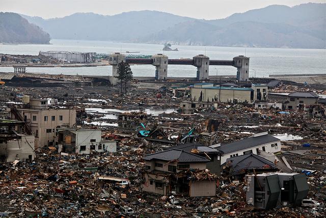 Orasul de coasta Otsuchi dupa Tsunami
