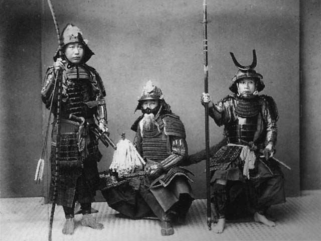 Samurai in armura